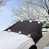 FEZZ Pare Brise Avant Voiture Couverture Magnétique Neige Givre Soleil UV Pluie Protection Universelle 210 * 120cm pour Voitures SUV Camions