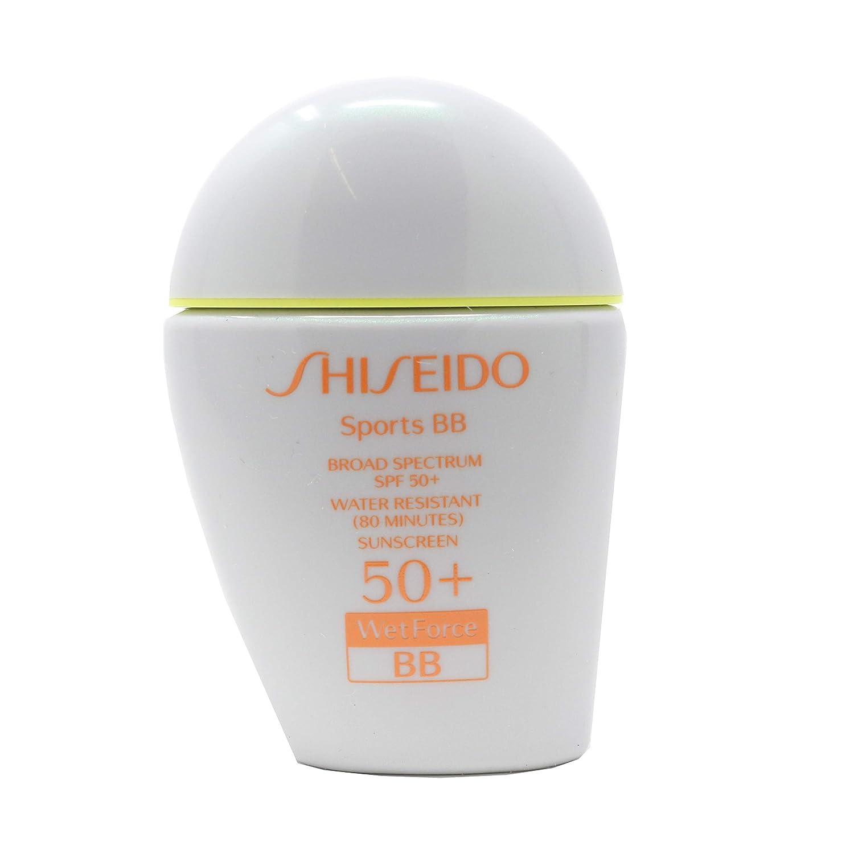 Shiseido Sports BB cream Broad Spectrum SPF 50+ WetForce Sunscreen/1 Fl. Oz. Light