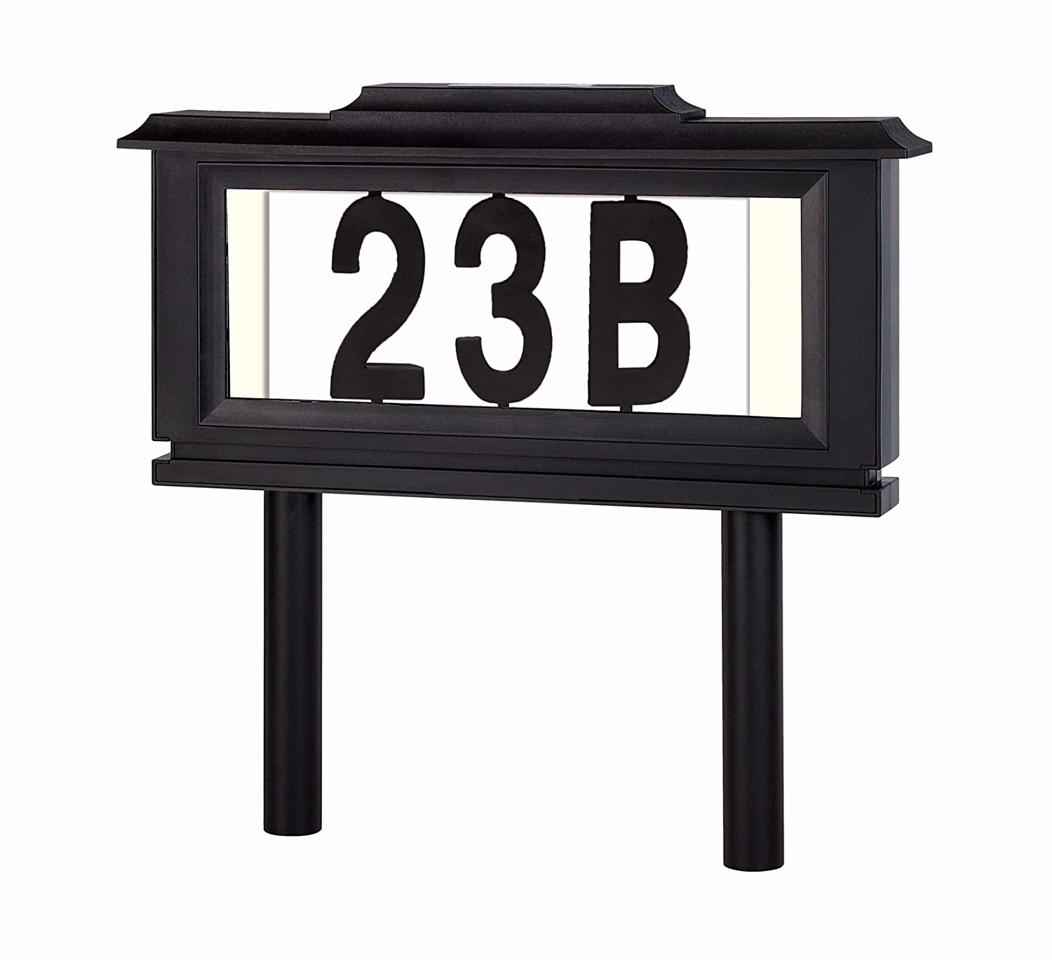 House Mailbox Numbers Reflective Sign – Address Plaques Door Numbers for Houses - Solar Street Address Led Light Signs for Home or Yard – Auto ON at Night – Off at Daylight – No Electric Power Needed Perfect Life Ideas