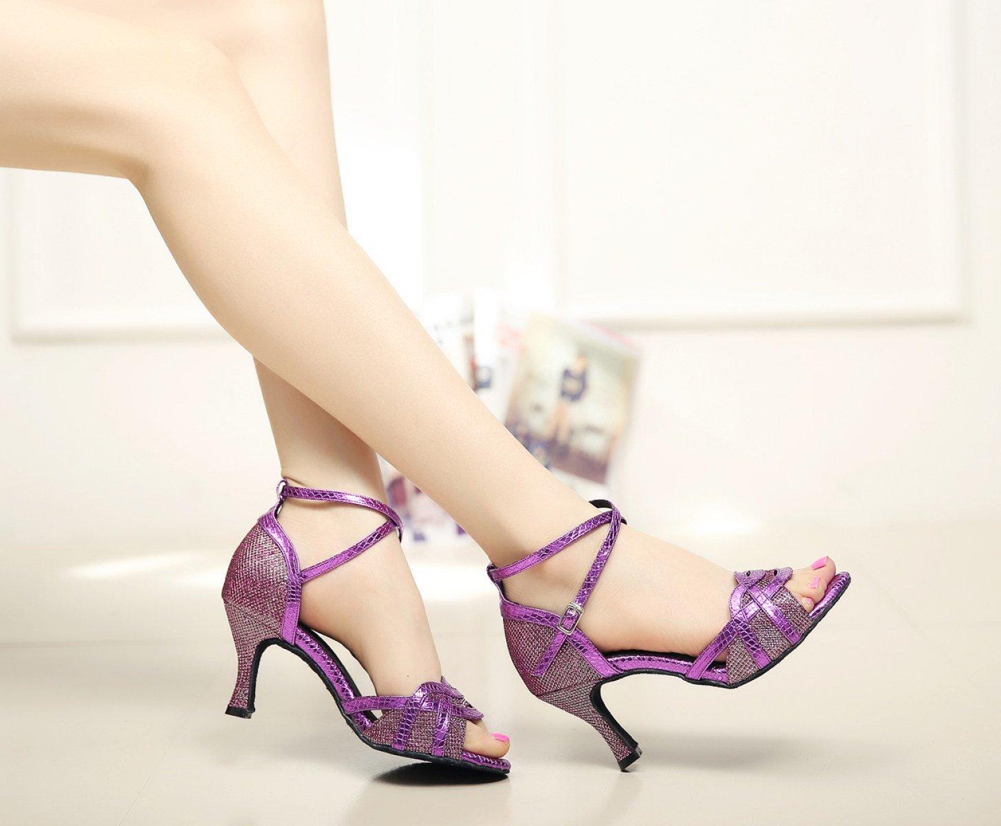 jshoe lucido di paillettes delle donne sala da ballo scarpe