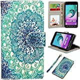 samsung galaxy on5 Galaxy On5 Case, UrSpeedtekLive Samsung On5 Wallet Case, Premium PU Leather Flip Wallet Case Cover with Card Slots & Kickstand for Samsung Galaxy On5 - Mandala Flower Pattern