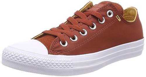 Unisex Kids Chuck Taylor CTAS Ox Textile Fitness Shoes, Brown (Marosc Stone/Soba/White 608), 3.5 UK 4 UK Converse