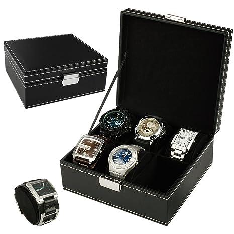 Expositor para caja de reloj organizador Caja para 6 relojes con almohadas reloj