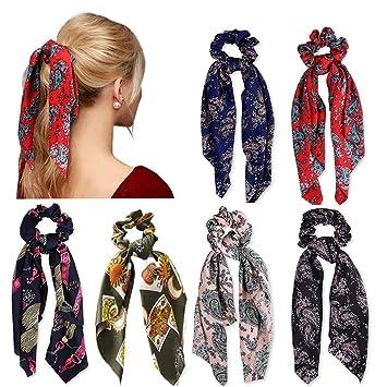 Frauen seidig Satin Haar Haargummis elastische Haarbänder-Pferdeschwanz Haargum