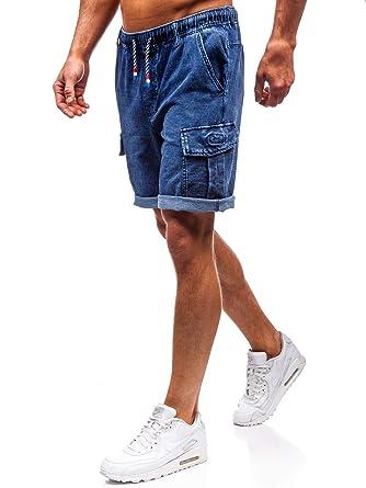 dd3b98899736 BOLF Hombre Pantalón Corto Pantalones Vaqueros Denim Regular Pantalón de  Algodón Pantalón Deportivo Estilo Casual 7G7