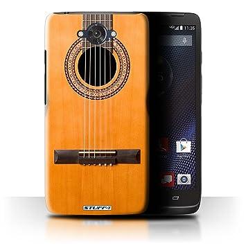 Carcasa/Funda STUFF4 dura para el Motorola DROID Turbo / serie: Guitarra - Madera