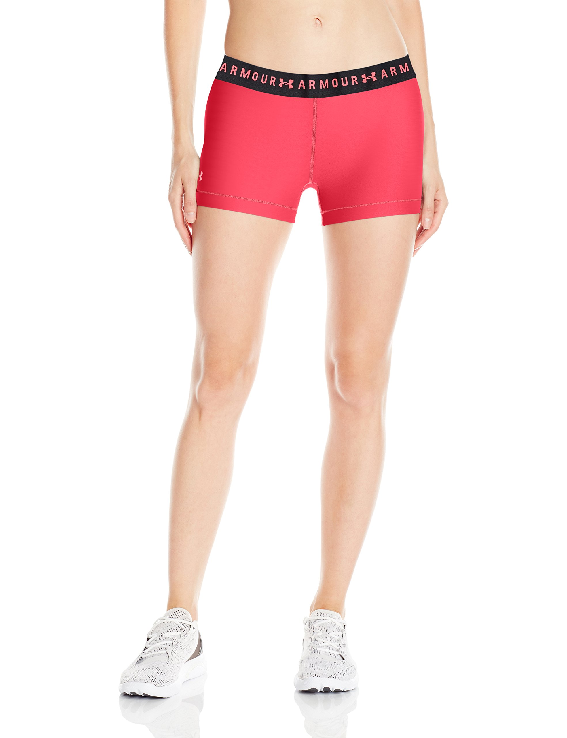 Under Armour Women's HeatGear Armour Shorty, Coral Cove (714)/Brilliance, X-Small