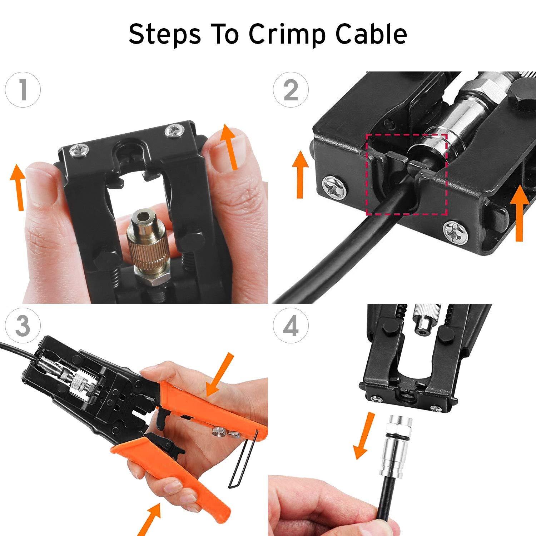 Amazon.com: Etekcity - Crimpadora de cable coaxial, conector ...