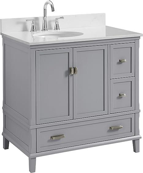 Amazon Com Dorel Living Da8050g C Otum 36 Bathroom Vanity Gray 36 Furniture Decor