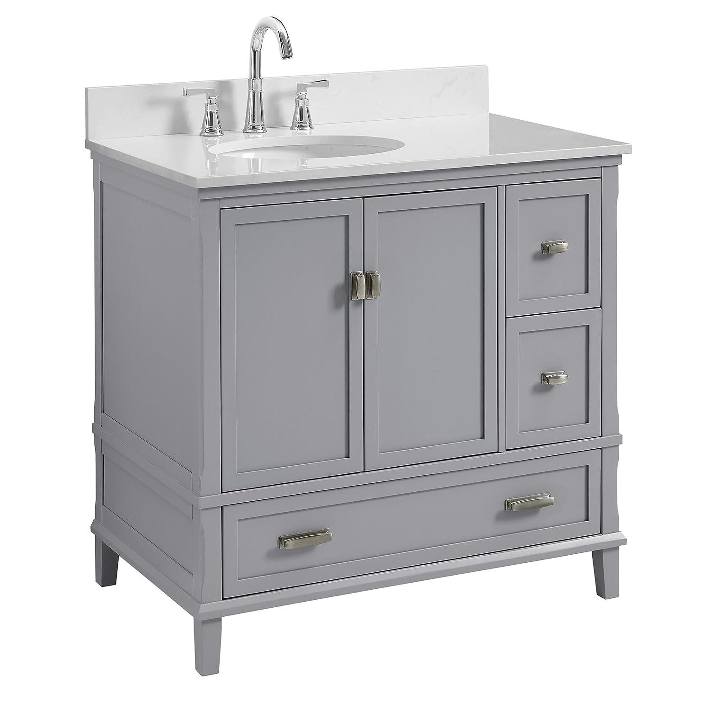 "Dorel Living Otum 36"" Bathroom Vanity, Gray"