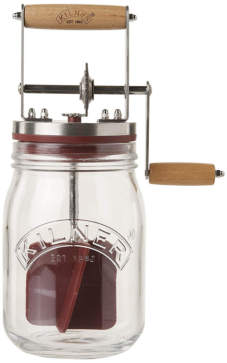 Kilner Vintage Glass Butter Churn; Delicious Homemade Butter in as Little as Ten Minutes; Large 34-Fluid Ounce Capacity; Recipes Included by Kilner (Image #1)
