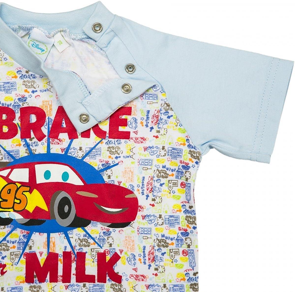 Disney/´s Cars Bekleidungsset/ M/ädchen Jungen Set I Brake for Milk 2 teilig Blau Bunt Gr/ö/ße 68-92