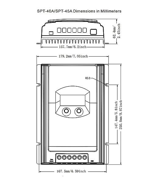 Amazon Com Eresmisol Mppt 10 Amp 1224vdc Solar Charge Controller
