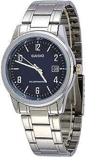 Casio MTP-VS01D-2B Mens Standard Solar Powered Stainless Steel Date Watch
