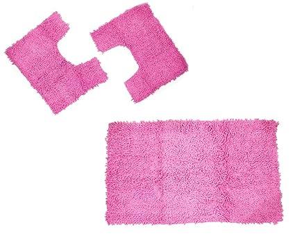 Set pz tappeti per bagno in coordinato arredamento tris greca