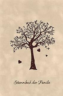 Stammbuch Okoume Holz Gravur individuell Holzcover mit Echtleder R/ücken und Extras Stammbuchformat hoch 175 x 220 mm Liebesbaum