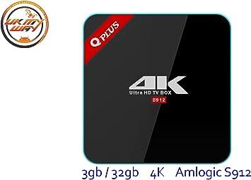 Decodificador (Set-top box) Q Plus 3 GB/32 GB Amlogic S912, Android 7.1, tv box smart tv Octa Core 4K, WiFi 2.4 G/5 G, Bluetooth: Amazon.es: Electrónica