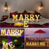 LED Light Up Letter, Valentine Gift - Light Up Marry Me Sign with Warm White LEDs - Proposal Sign, Will You Marry Me…