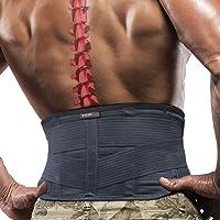 Faja de espalda para alivio del dolor de espalda baja, soporte de espalda inferior ajustable para hombres y mujeres…