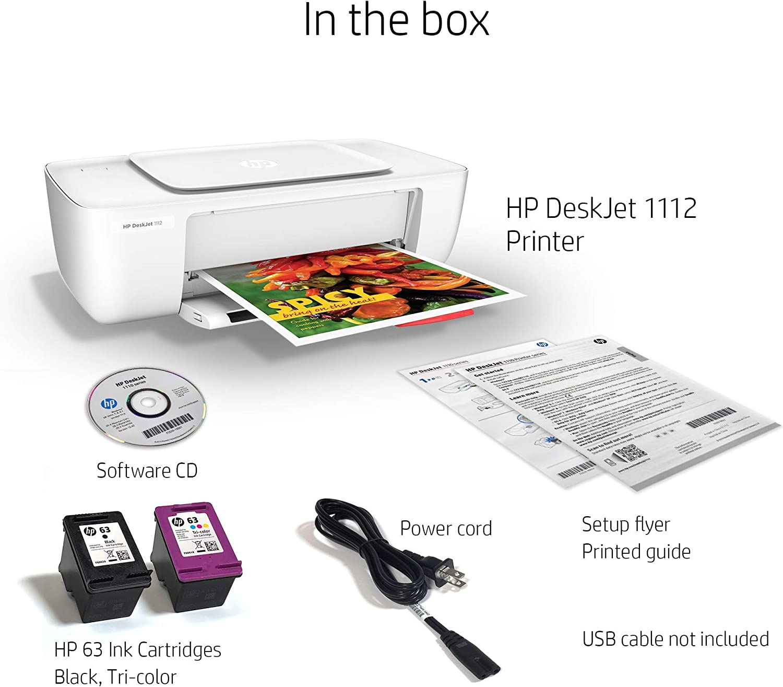 Amazon.com: Impresora HP DeskJet 1112 compacta (F5S23A ...