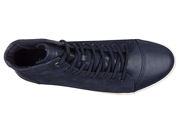 Ralph Lauren Polo Scarpe Sneakers Alte Uomo in camoscio Nuove Kelsey Blu   Amazon.it  Scarpe e borse 709d647bdb4