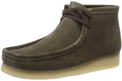 Clarks Originals Wallabee Boot, Botas Chukka para Hombre, Verde (Olive Suede), 43 EU