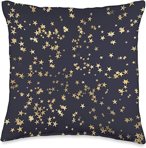 Classy Pattern Co Navy Blue Stars Throw Pillow 16x16 Multicolor Home Kitchen