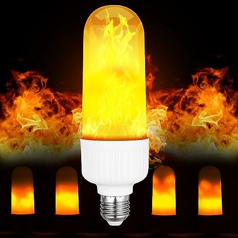 APlus LED Bombilla Llama Bombilla Luz titilante E27 Fuego parpadeo Pera 1500 K bombilla LED Bulb