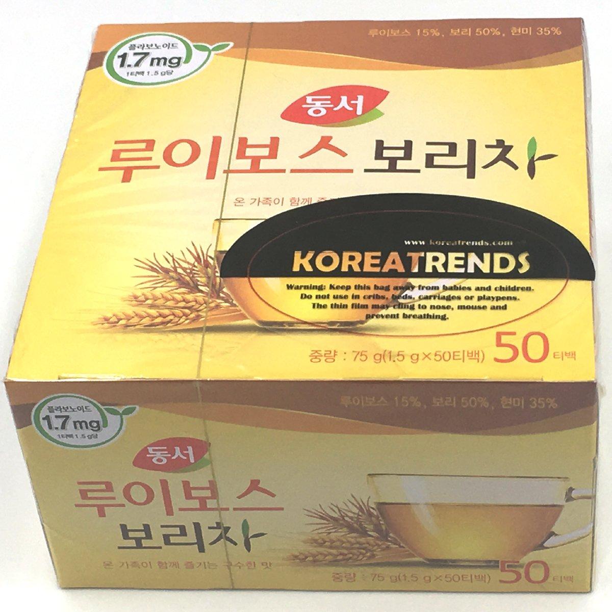 Dongsuh Food Rooibos Roasted Barley Tea 75g (1.5 g x 50 bags) by Dongsuh Food (Image #1)