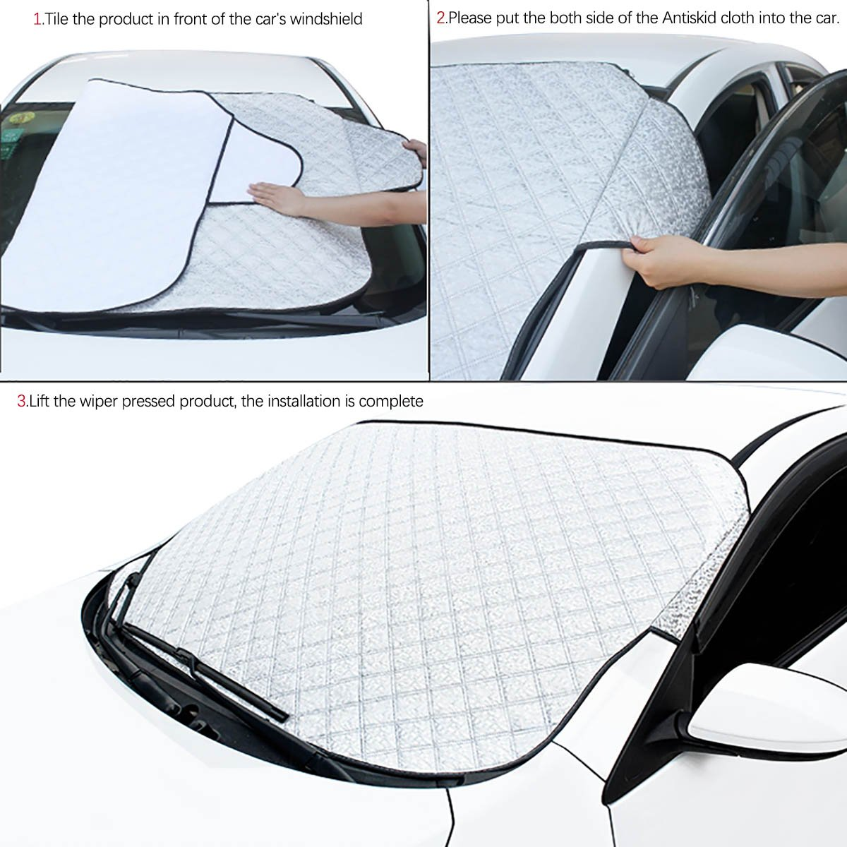 5559001106 M TPYQdirect Car Snow Cover Premium Windshield Universal Windshield Cover for Ice and Snow /& Sun Shade Protector for All Vehicles with Snow Scraper