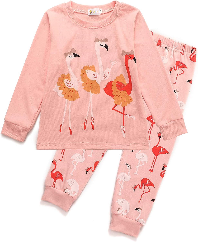CM-Kid Little Girls Pajamas Short Sets 100/% Cotton Toddler Pjs Flamingos Sleepwear Clothes Size 2-8 Years