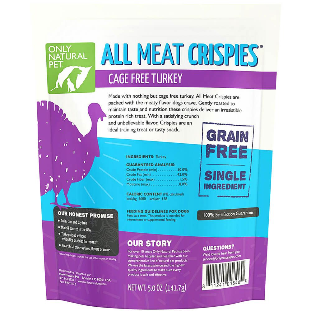 Only Natural Pet All Meat Turkey Crispies 5 oz 3 Pack by Only Natural Pet (Image #2)