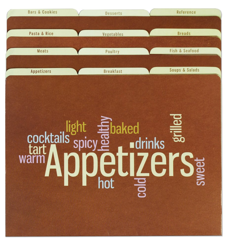 Meadowsweet Kitchens Recipe Organizer File Folder Set - Wordle FF12/WD