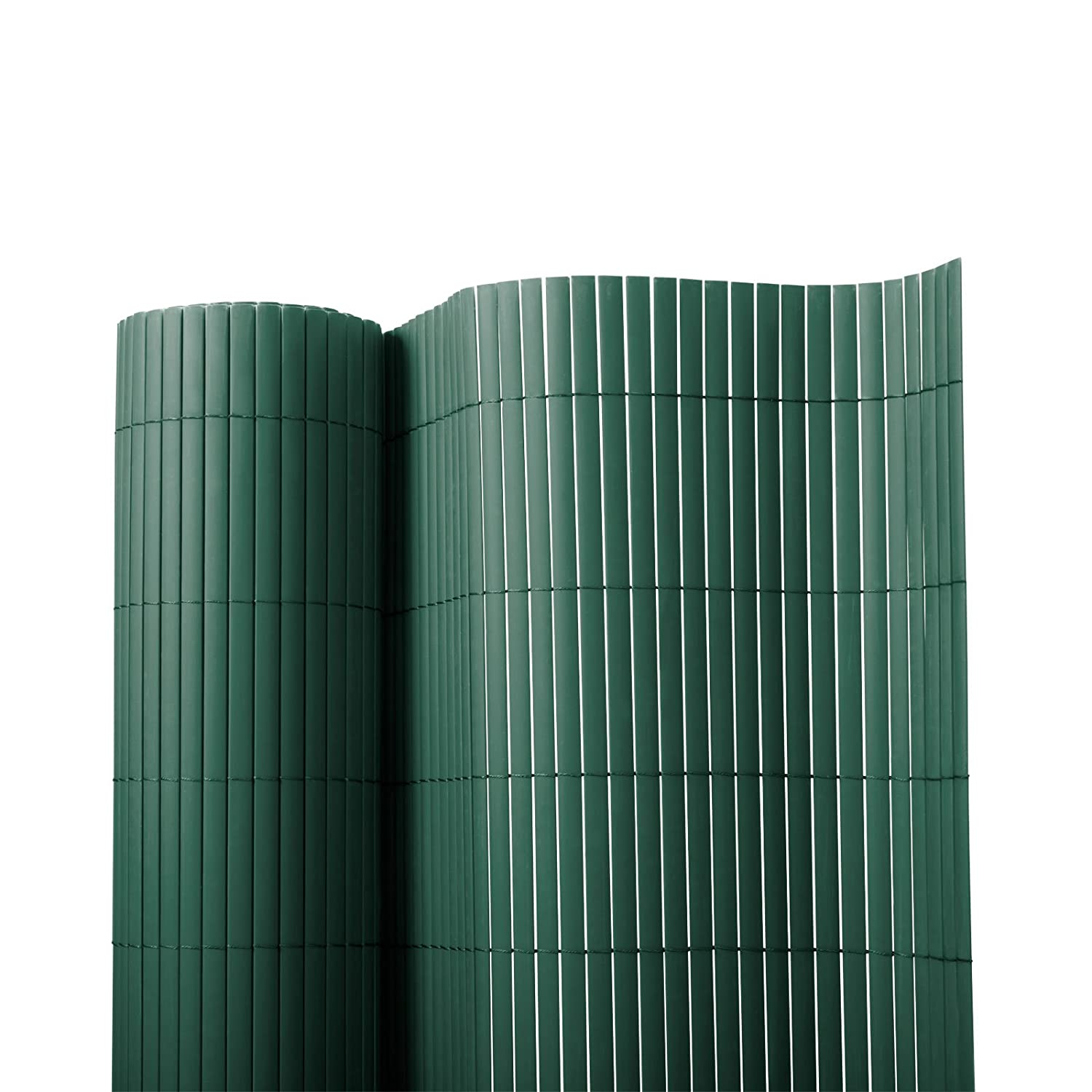 casa pura PVC Garden Screen Fence, Green - 100 x 500 cm | 7 Sizes Available - Protective Screening Fence