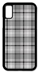 iPhone XR Case, Slim Fit - Hard Shell Plastic - Full Protective Cover for Apple iPhone XR - Gray & White Flannel Design