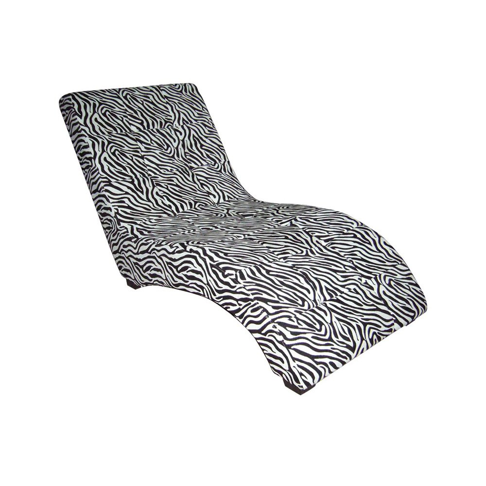 ORE International AHB4252CH Modern Chaise - Zebra
