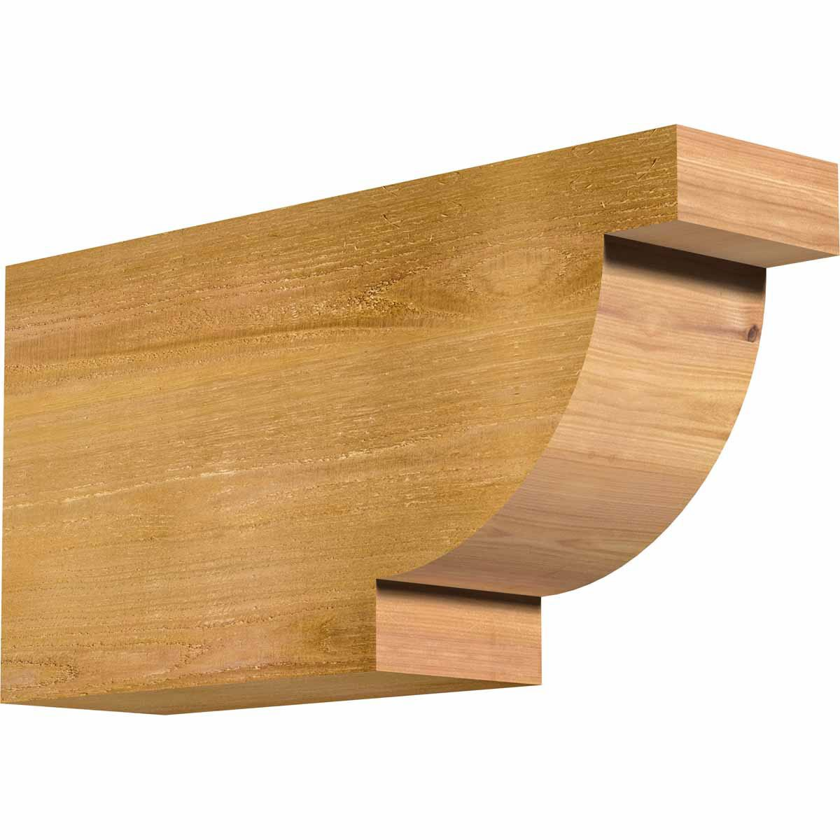 Ekena Millwork RFT06X12X24ALP00RWR Alpine Rough Sawn Rafter Tail, 6'' Width by 12'' Height by 24'' Length, Western Red Cedar