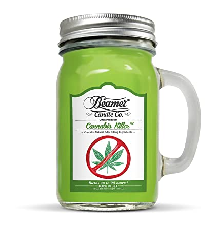 Amazon.com  Beamer 12oz Cannabis Killer Scented Candle Co. Ultra ... 87b1ba1e76