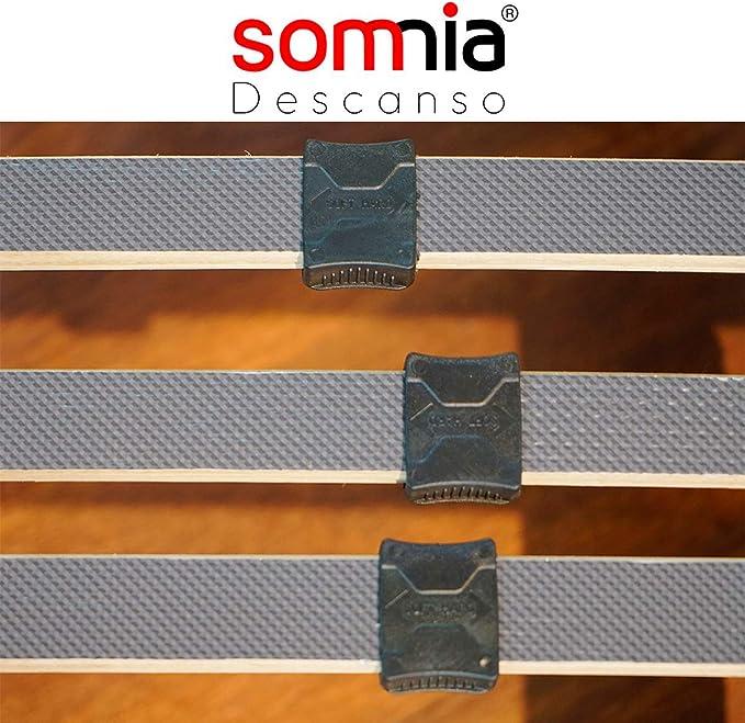Somnia - Cama Articulada Eléctrica Artimedic | Reforzada | 5 Planos | Suspensiones de Hytrel | Fabricado En España (90x190)