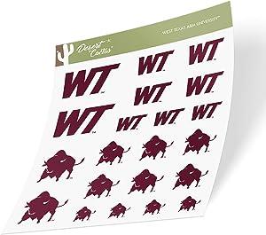 West Texas A&M University WTAMU Buffaloes Buffs NCAA Sticker Vinyl Decal Laptop Water Bottle Car Scrapbook (Type 1 Sheet)