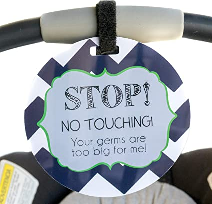 DO NOT DONT TOUCH BABY NO TOUCHING BUGGY CAR SEAT SIGN PREMATURE GIRL PINK GIFT