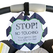 Seahawk Tag - Stop No Touching Your Germs Are Too Big For Me (Boy Preemie Sign, Newborn, Baby Car Seat Tag, Stroller Tag, Baby Preemie No Touching Car Seat Sign)