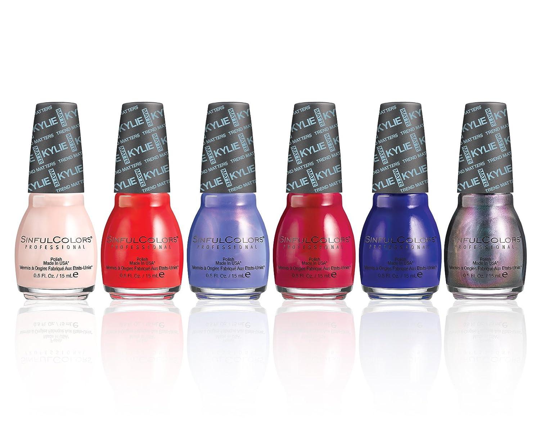Amazon.com: SinfulColors Kylie Jenner Nail Polish Set Sinful Colors ...