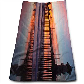 "ewtretr Toallas De Mano,Huntington Beach Pier Microfiber Beach Towel Large & Oversized - 11.8"""