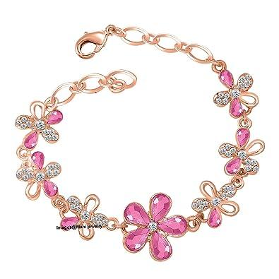 2960025ab2977 Oviya Rose Gold Brass and Alloy Bracelet for Women