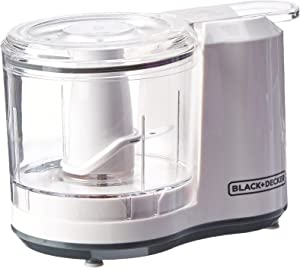 BLACK+DECKER 1.5-Cup Electric Food Chopper, Improved Assembly, White, HC150BW (Renewed)