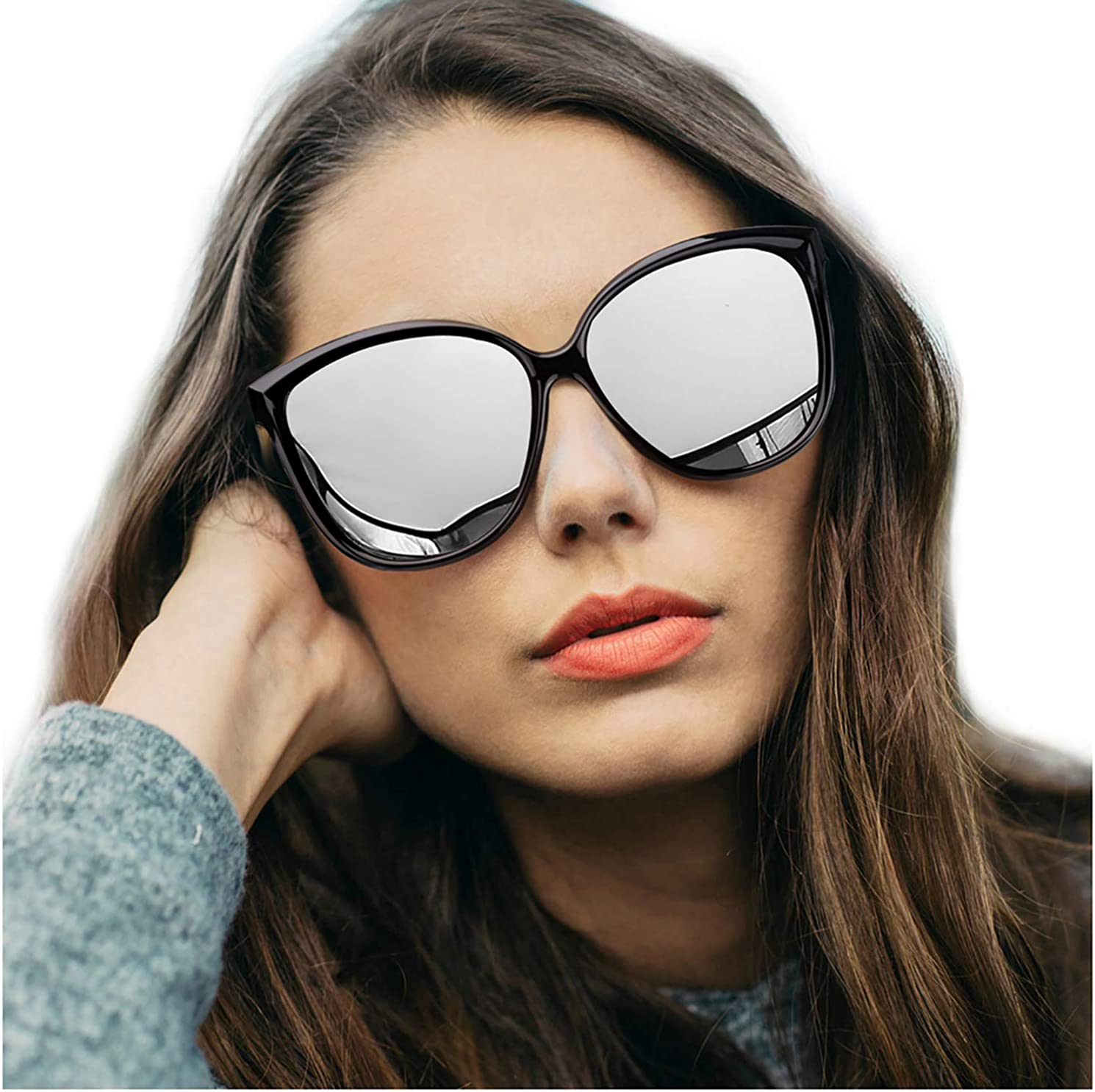 LVIOE Cat Eye Sunglasses...