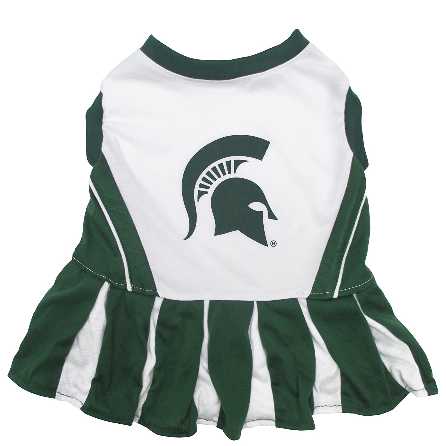 Pets First Michigan State Spartans Cheerleading Outfit Medium MS-4007-MD