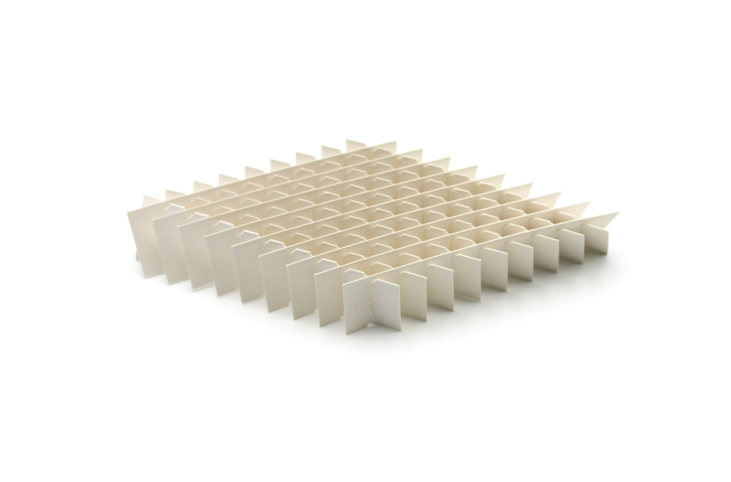 Heathrow Scientific HD2860E Cardboard Cryogenic 100-Cell Partition for Vial Box (Pack of 12) by Heathrow Scientific
