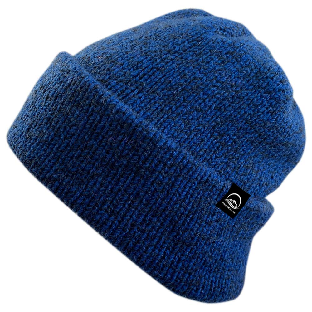 Truzealia Unisex New Zealand Made Luxury Merino Wool Lined Beanie, One Size